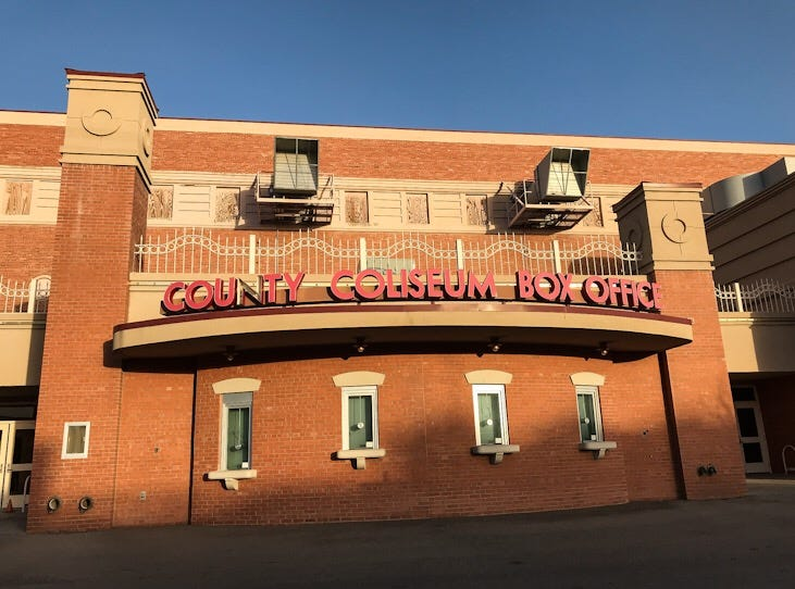 The box office on the western side of the El Paso County Coliseum is closed Wednesday, Feb. 6, 2019, but the eastern side had a working box office.