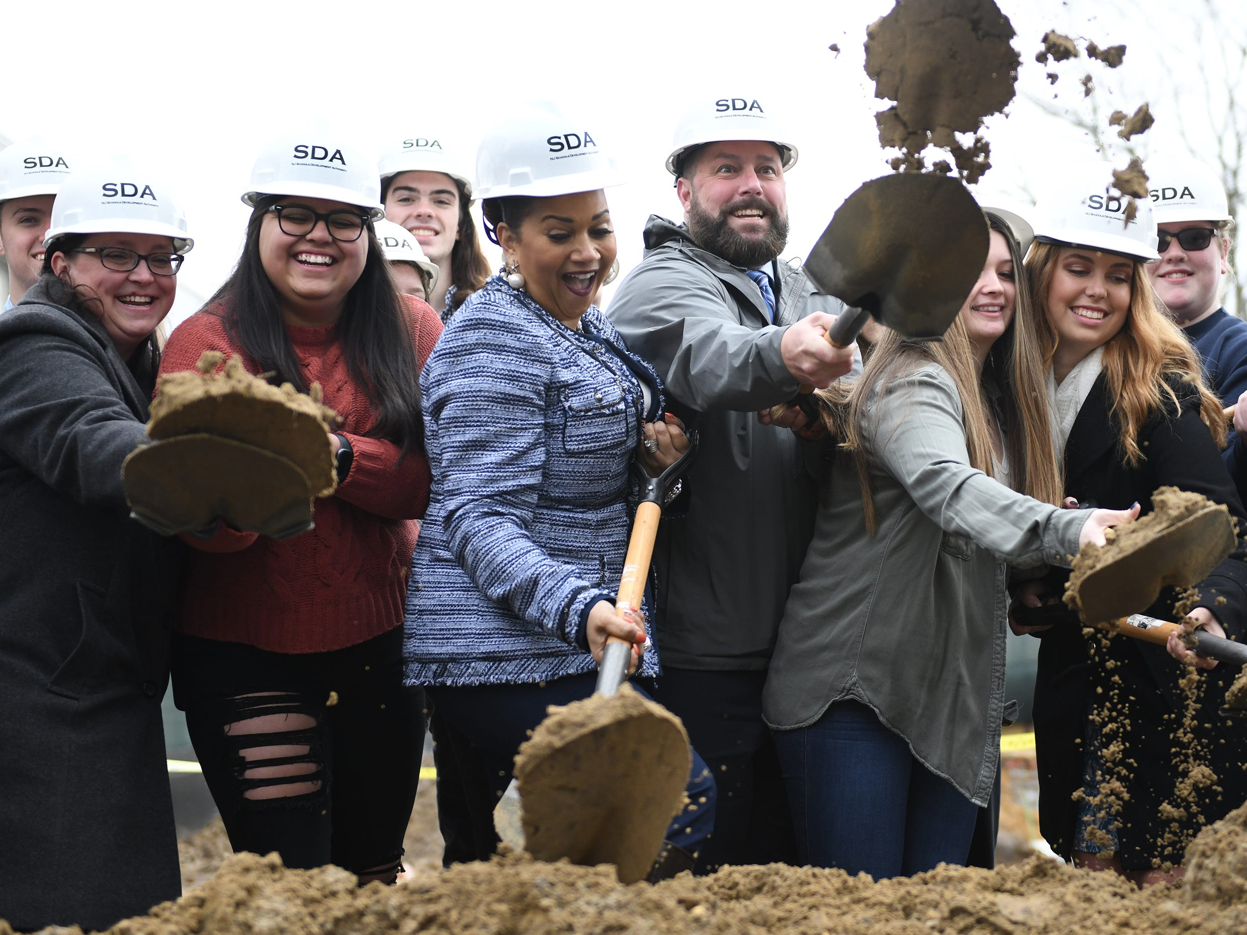 The New Jersey Schools Development Authority, joined by students, legislative representatives and school officials, hosted a groundbreaking event to kick off construction of the addition to Millville High School on Thursday, Feb. 7, 2019.