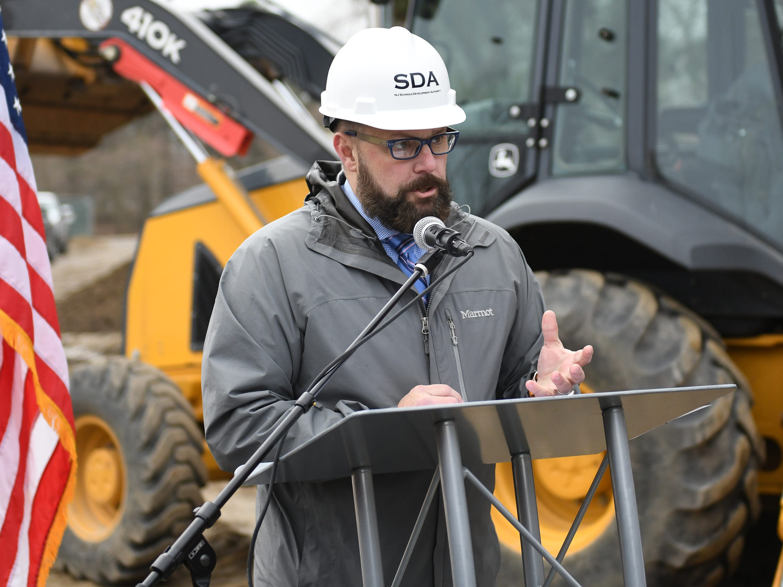 Superintendent David Gentile speaks during the groundbreaking ceremony at Millville High School on Thursday, Feb. 7, 2019.