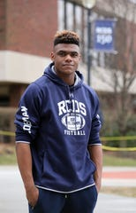 Cullen Coleman from Port Chester, a junior at Rye Country Day School, is pictured on the campus, Feb. 7, 2019. He's a running back and a linebacker on the school football team, and may be the area's top football recruit in 30 years.