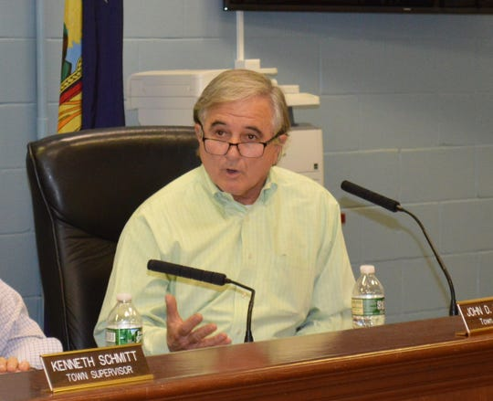 Carmel Town Board member Mike Barile, at the Feb. 6 Town Board meeting.