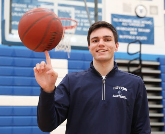 Suffern senior Will Krebs is selected as the Rockland Boys Scholar-Athlete of the Week.  Krebs was photographed at Suffern High School in Suffern on Thursday, February 7, 2019.