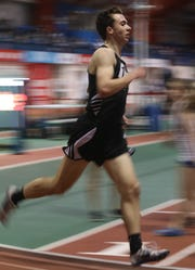 Nanuet's Ryan Guerci wins the Boys 3200 Meter Run during the Section 1 Class B track & field Championships at the Armory in Manhattan Feb. 6, 2019.