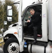 Joe Fitzpatrick, president of Lightning Express Inc. Delivery and Air Freight Service in Modena, New York, is pictured at his warehouse and distribution center, Feb. 7, 2019.