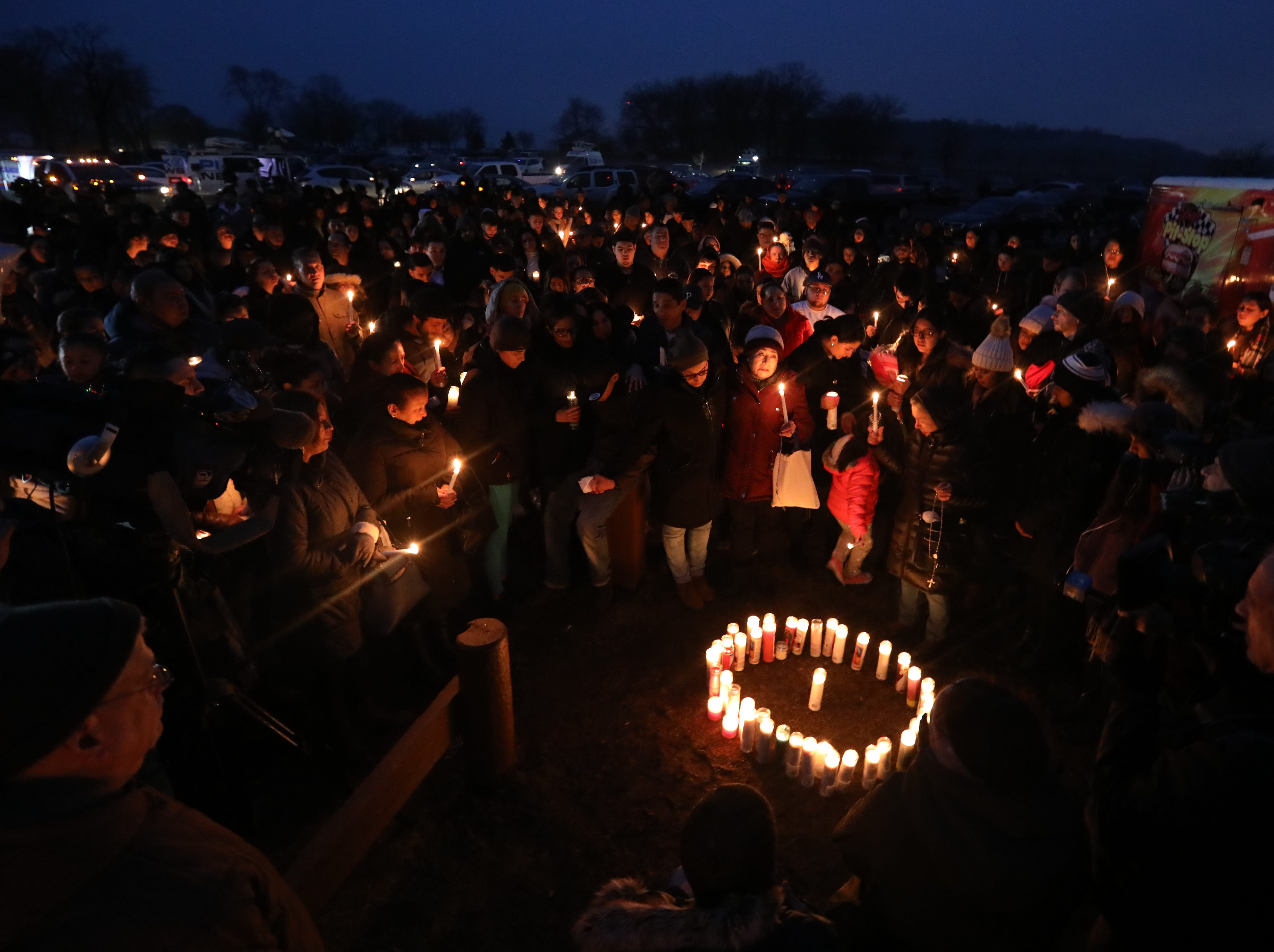 Vigil for Valerie Reyes at Glen Island Park in New Rochelle Feb. 7, 2019. Reyes body was found in Greenwich, Conn. Feb, 5.