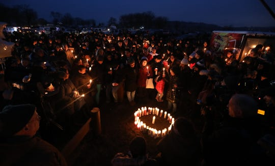 Vigil for Valerie Reyes at Glen Island Park in New Rochelle Feb. 7, 2019. Reyes body was found in Greenwich, Conn. Feb, 5.