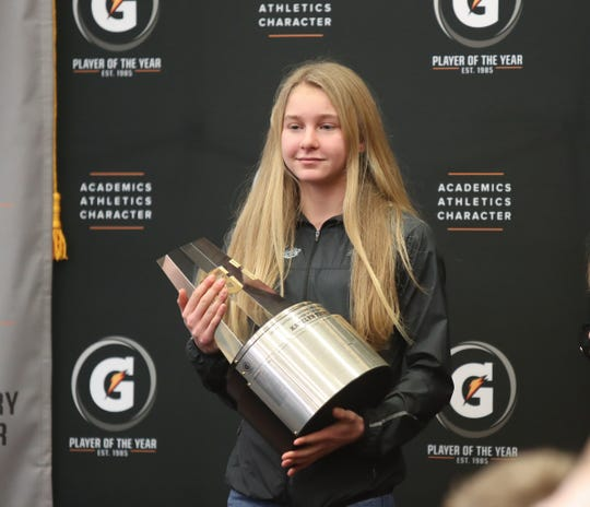 North Rockland junior Katelyn Tuohy is named the Gatorade National Girls Cross Country runner of the year at North Rockland High School in Thiells on Thursday, February 7, 2019.
