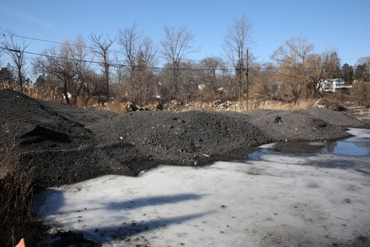 Debris dumped on the Swan Cove property on Lake Mahopac Feb. 5,  2019.