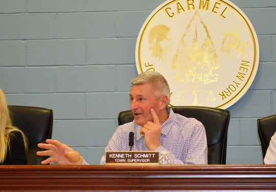 Carmel Supervisor Kenneth Schmitt, at the Feb. 6 Town Board meeting.