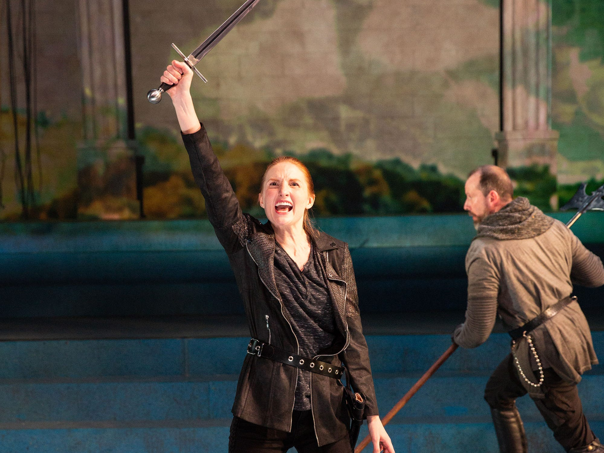 "Clare O'Malley plays Joan of Arc in a new adaptation of ""St. Joan"" at Delaware Theatre Company."