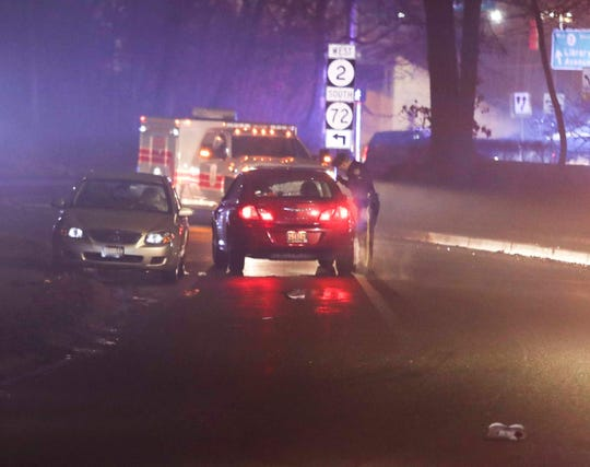 Newark police investigate after a person was struck by a car on Woodlawn Avenue near Capitol Trail, reported about 8:30 p.m. Wednesday.