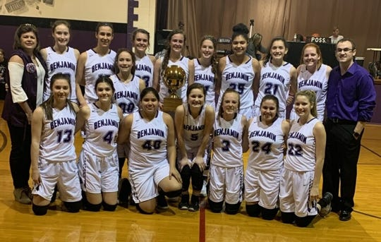 The Benjamin girls basketball team finished 16-A with a 12-0 record.