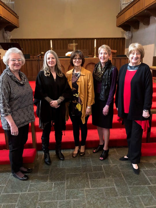 "The featured speakers and singers of Floral Heights United Methodist Church's Spirit Day for Women include, left to right: Patti Milford, Diane Keep, Kathy Howard, Anita Beeks and Janette Hoover. The seventh annual event, held on Jan. 26 at the church at 2214 10th St., was a huge success. Author and speaker Howard addressed the audience of more than 150 women with the theme ""The Game of Life: It's No Trivial Pursuit."" Every year the church offers Spirit Day for Women as a time for women of the community to fellowship together, sing together, share a meal and hear an inspirational message."