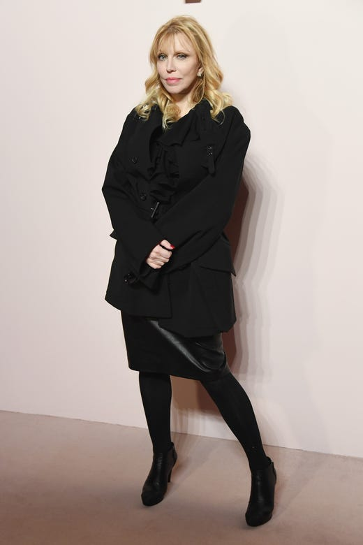 NEW YORK, NY - FEBRUARY 06: Courtney Love attends the Tom Ford FW 2019 during New York Fashion Week: The Shows on February 6, 2019 in New York City.
