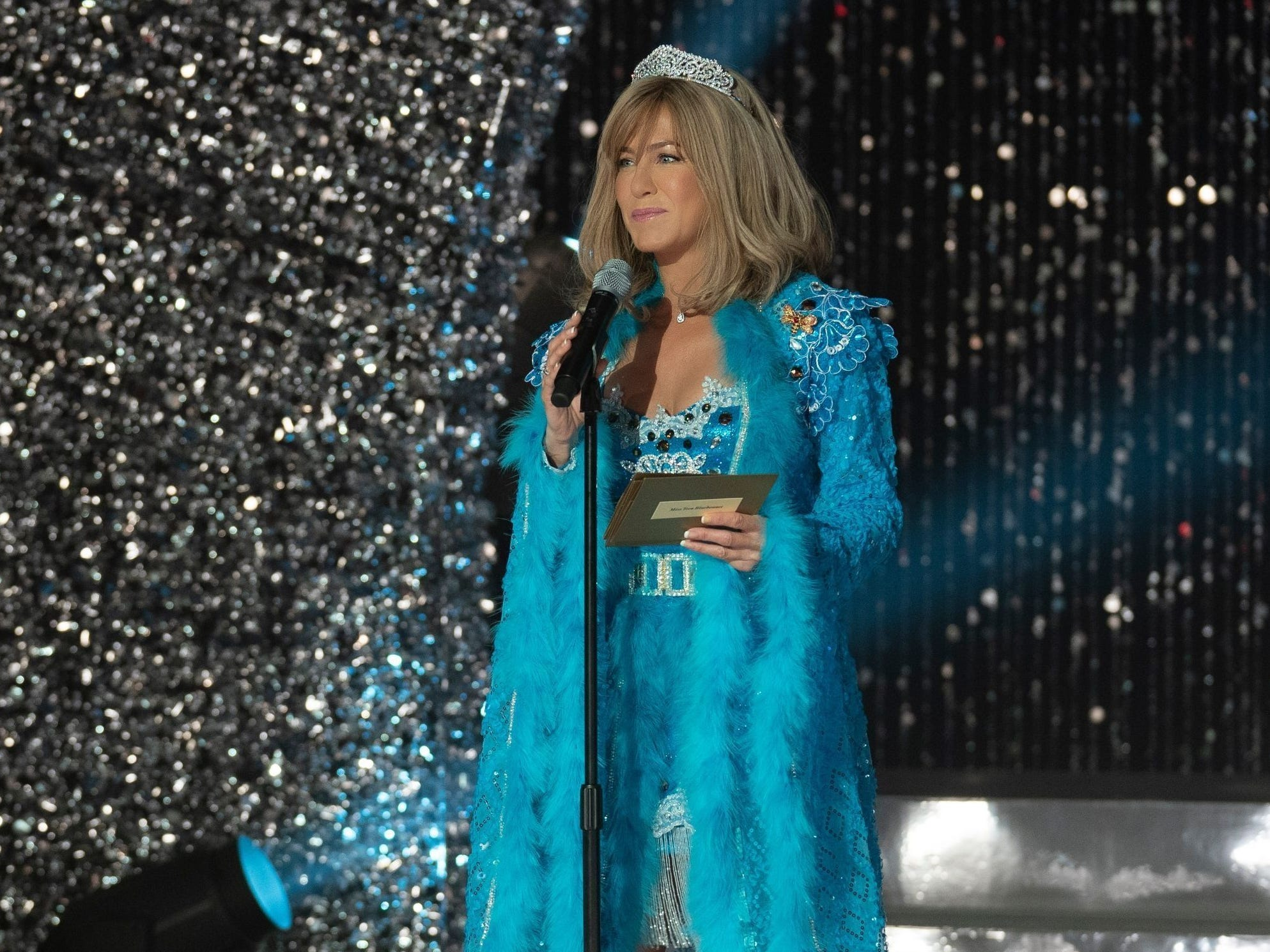 """In December 2018, Netflix released the movie """"Dumplin',"""" in which Aniston played an over-the-top beauty pageant coach who seemed to prefer her pupils over her own daughter."""