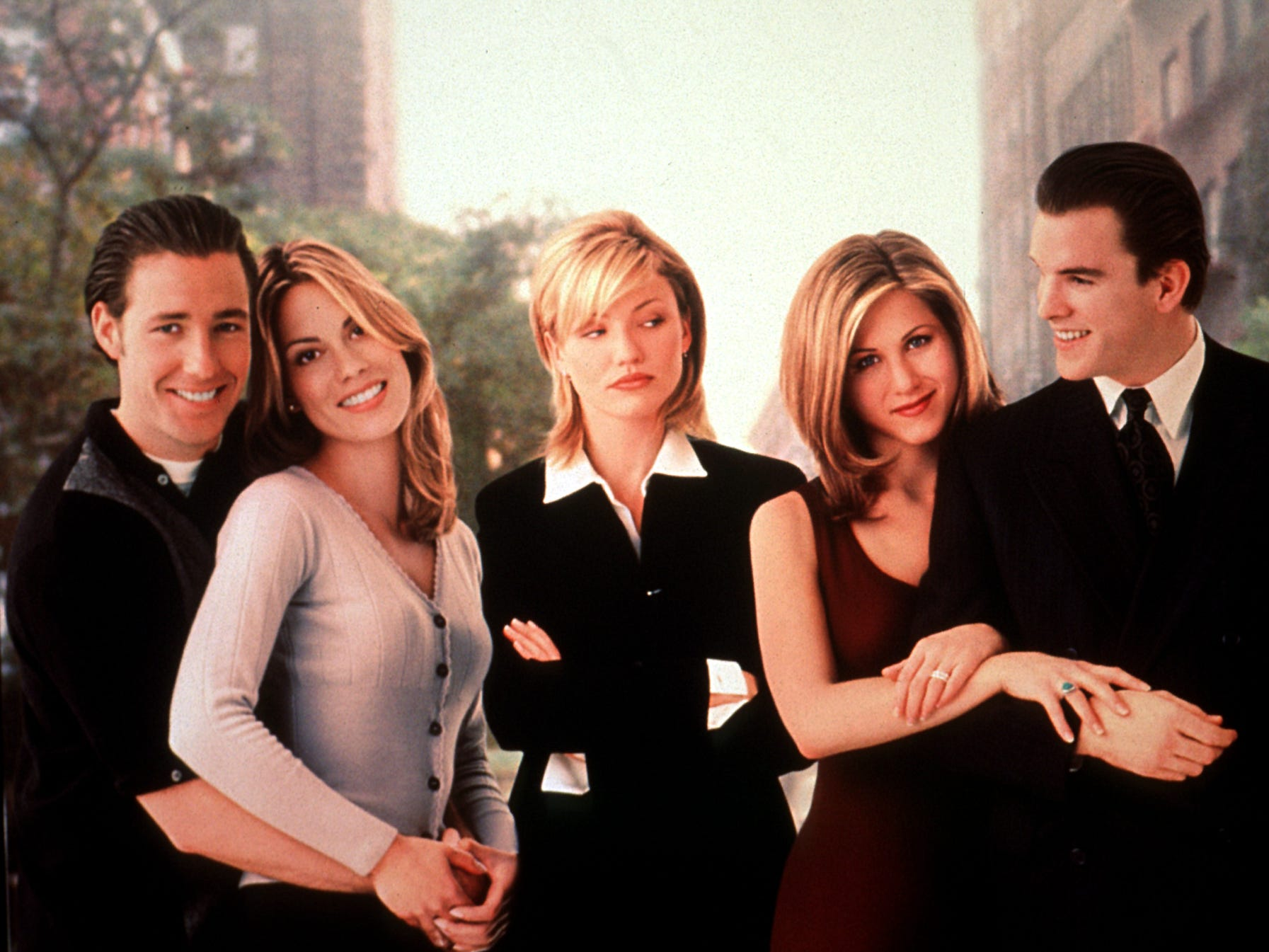 """By 1996, Aniston was also in demand as a film actress, playing a supporting role in the Ed Burns film """"She's the One."""""""