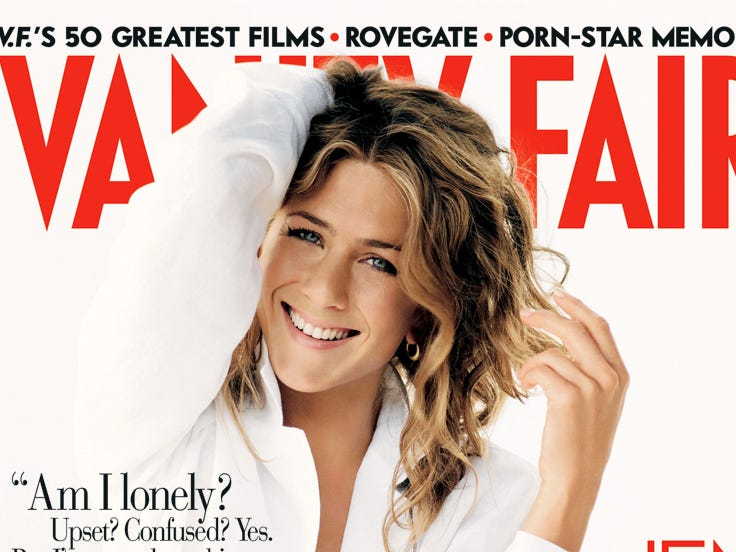 """In September 2005, Aniston opened up to Vanity Fair about the end of her marriage to Pitt, including rumors that her refusal to have children played a role. """"A man divorcing would never be accused of choosing career over children,"""" she told the magazine. """"That really (ticked) me off. I've never in my life said I didn't want to have children."""""""