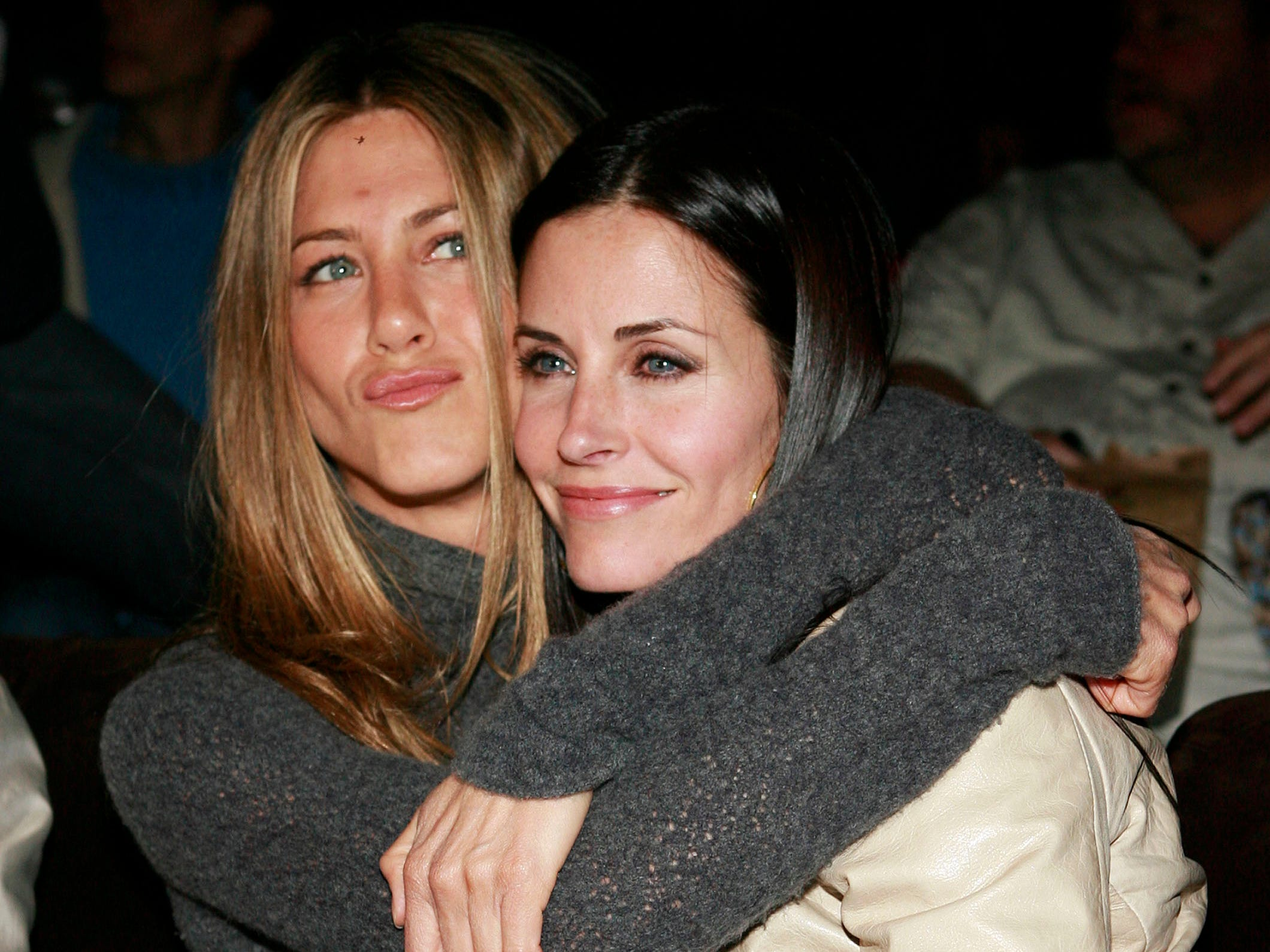 By her side through all of it: her friend, Courteney Cox.