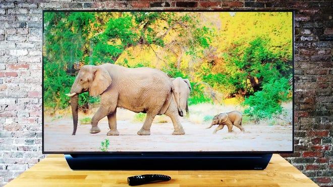 Save big on a refurbished LG C8 OLED TV at Walmart.