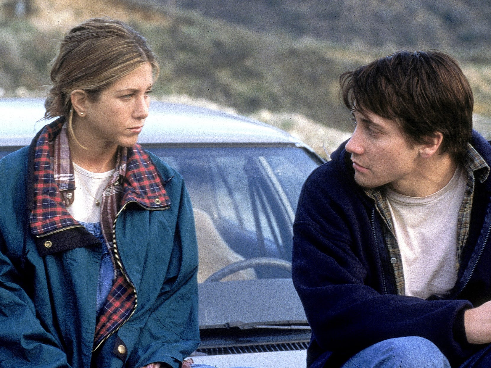 """In 2002's """"The Good Girl,"""" Aniston played an unhappily married retail clerk who has an affair with a younger co-worker (Jake Gyllenhaal). It was one of several frumpy characters that would bring her critical acclaim."""
