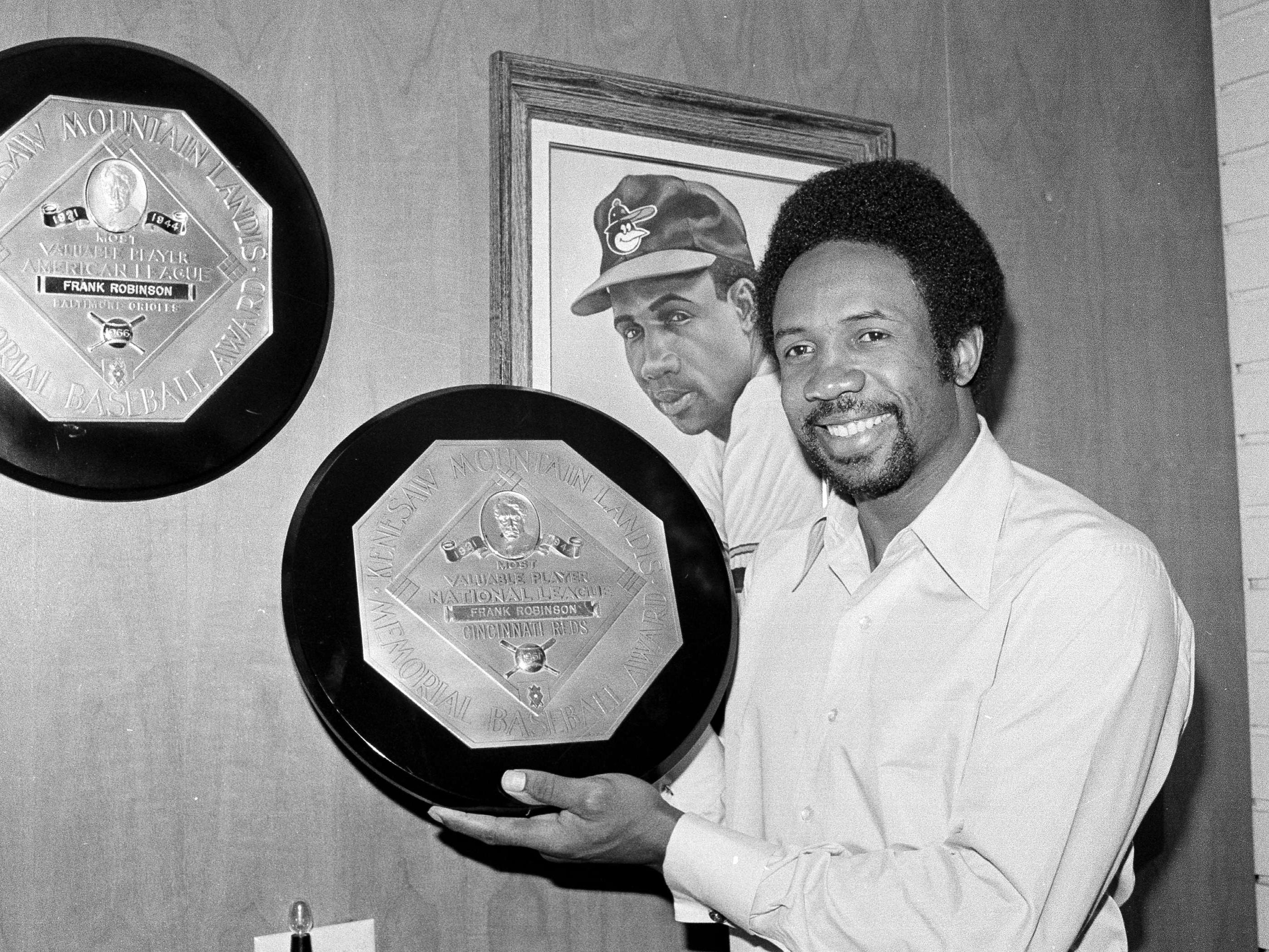Frank Robinson is the only player to win the MVP award in both leagues.
