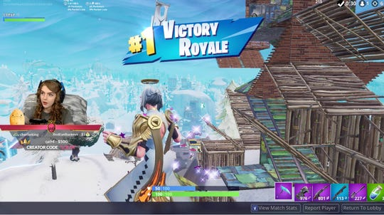 On video game streaming service Twitch, professional 'Fortnite' player Loeya draws thousands as she plays the online game.
