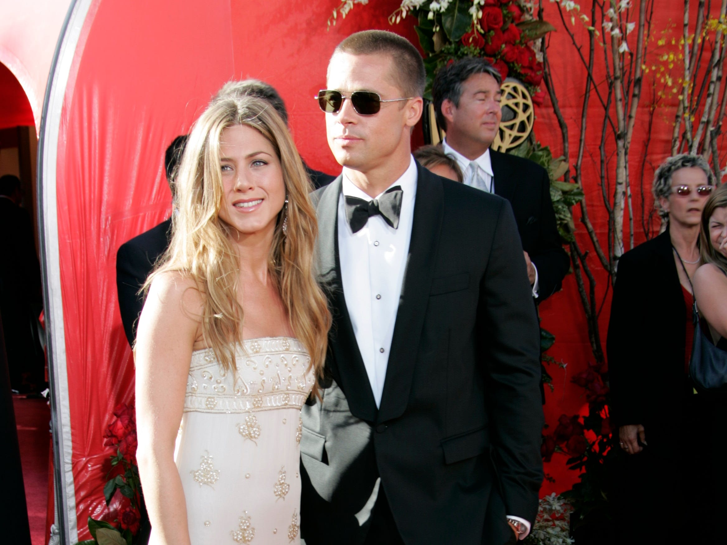 The couple walked what would be their final Emmy red carpet together in September 2004.