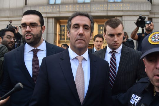 President Donald Trump's personal lawyer Michael Cohen leaves the US Courthouse in New York on April 26, 2018.