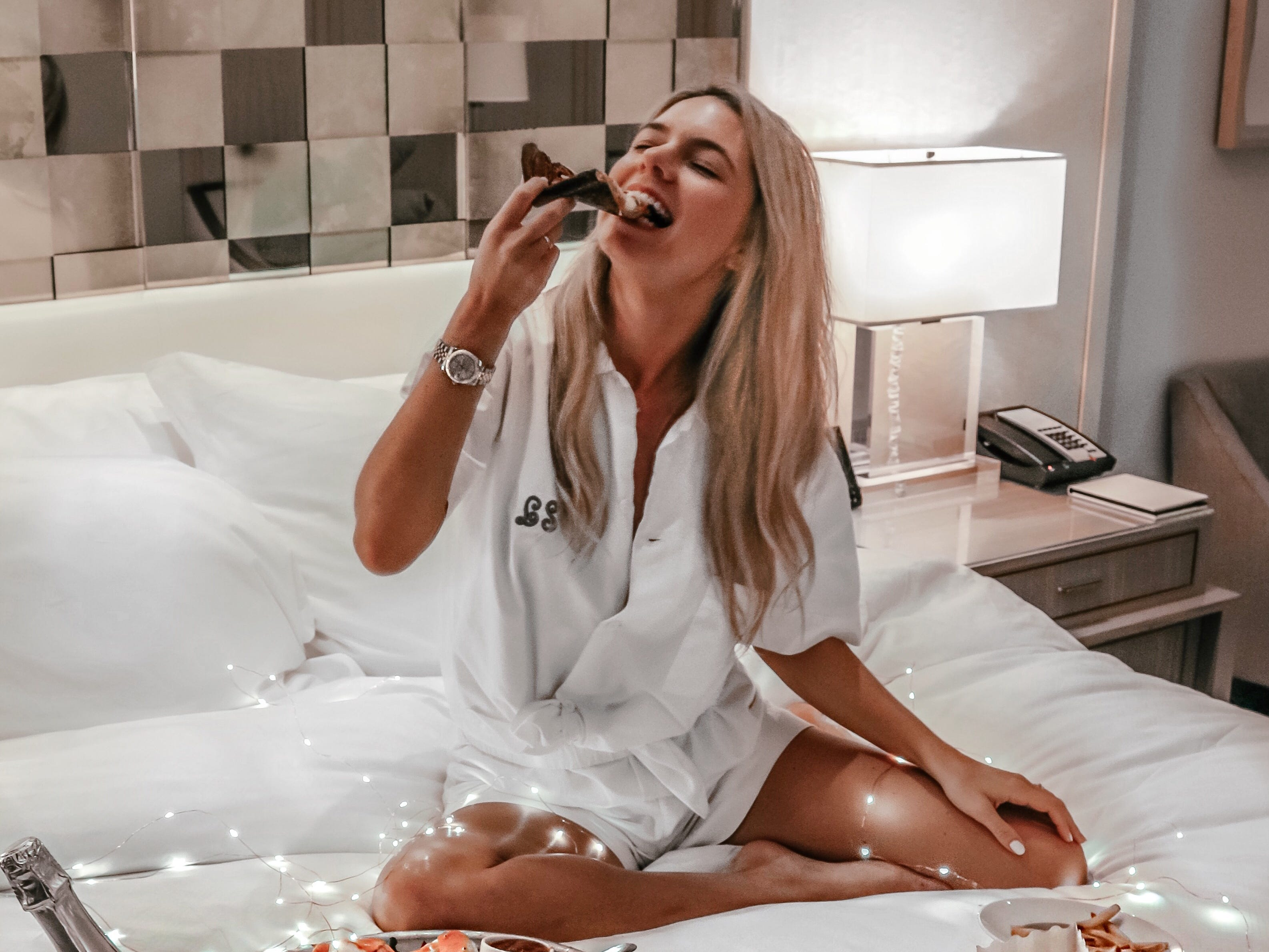 Influencer Lindsay Silberman at the St. Regis Bal Harbour Resort, a company she has partnered with as part of her luxury lifestyle blog.