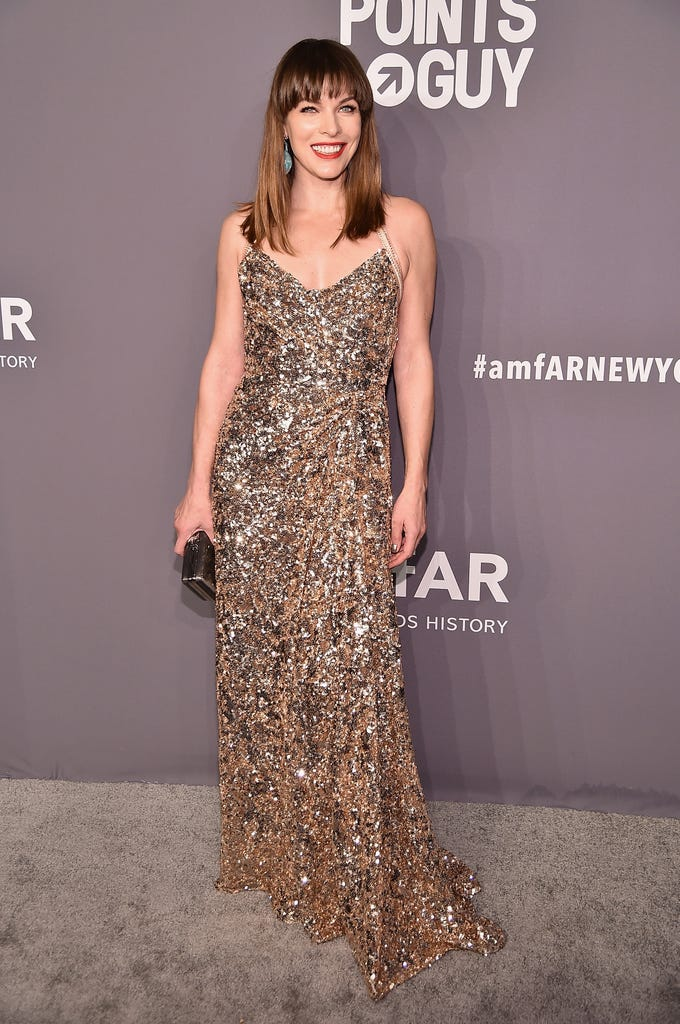 NEW YORK, NY - FEBRUARY 06:  Milla Jovovich attends the amfAR New York Gala 2019 at Cipriani Wall Street on February 6, 2019 in New York City.  (Photo by Theo Wargo/Getty Images) ORG XMIT: 775293218 ORIG FILE ID: 1094612254