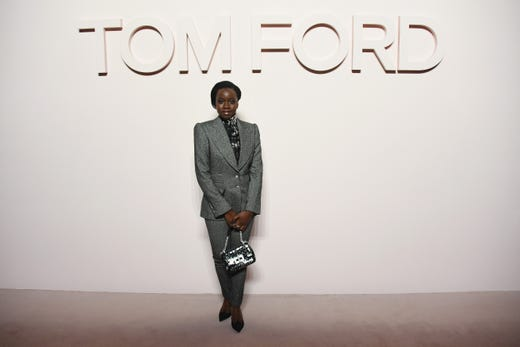 NEW YORK, NY - FEBRUARY 06: Danai Gurira attends the Tom Ford FW 2019 during New York Fashion Week: The Shows on February 6, 2019 in New York City.