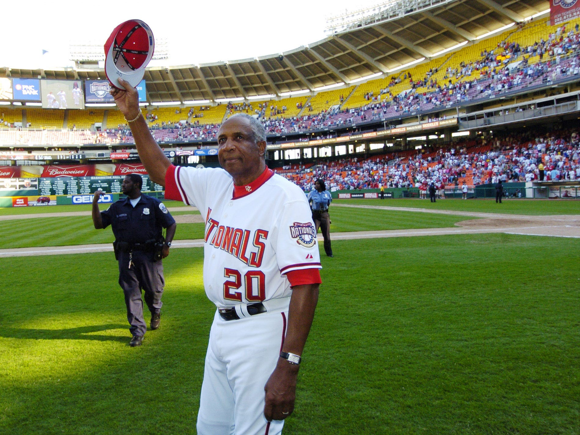 Frank Robinson managed the Washington Nationals/Montreal Expos from 2002-2006.