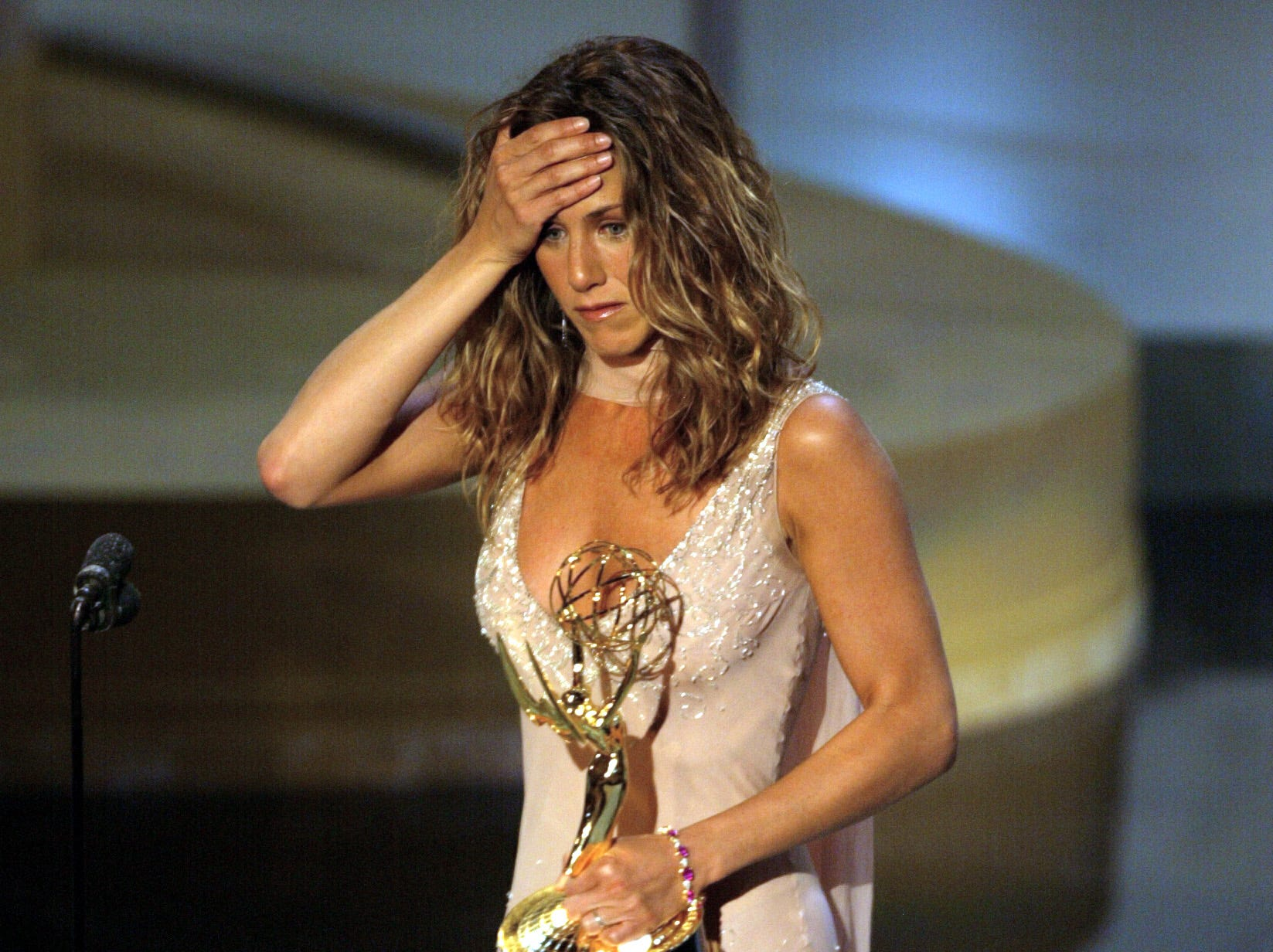 """That year, she won her first Emmy for lead actress on """"Friends."""" She was nominated for playing Rachel five times in all."""