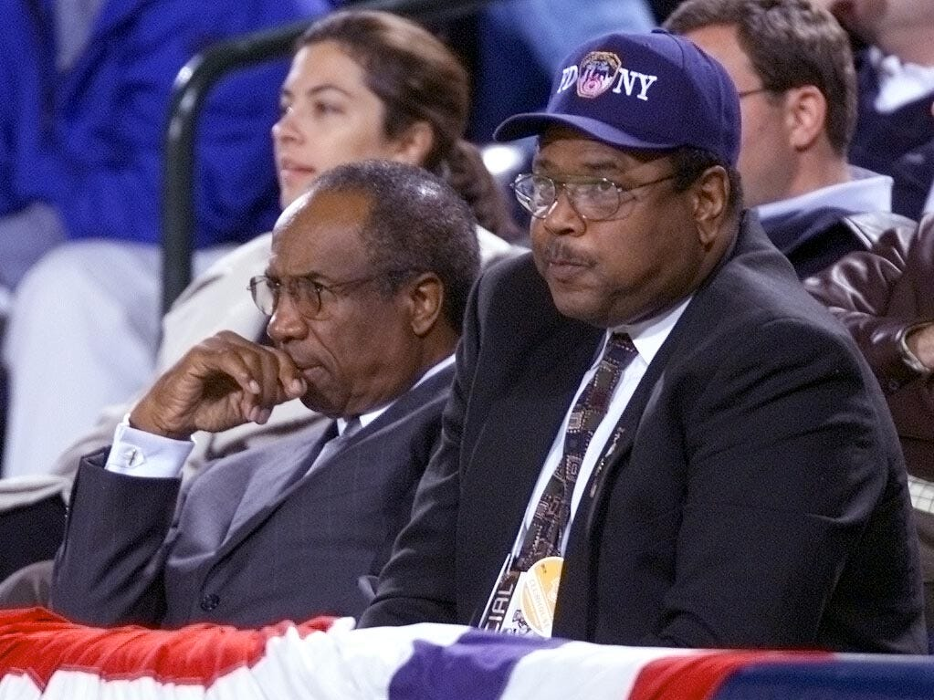 Frank Robinson, left, spent 12 years working for the Commissioner's office mostly as a vice president, and later as a senior advisor to Commissioner Rob Manfred.