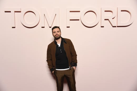 NEW YORK, NY - FEBRUARY 06:  Sebastian Stan attends the Tom Ford FW 2019 during New York Fashion Week: The Shows on February 6, 2019 in New York City.