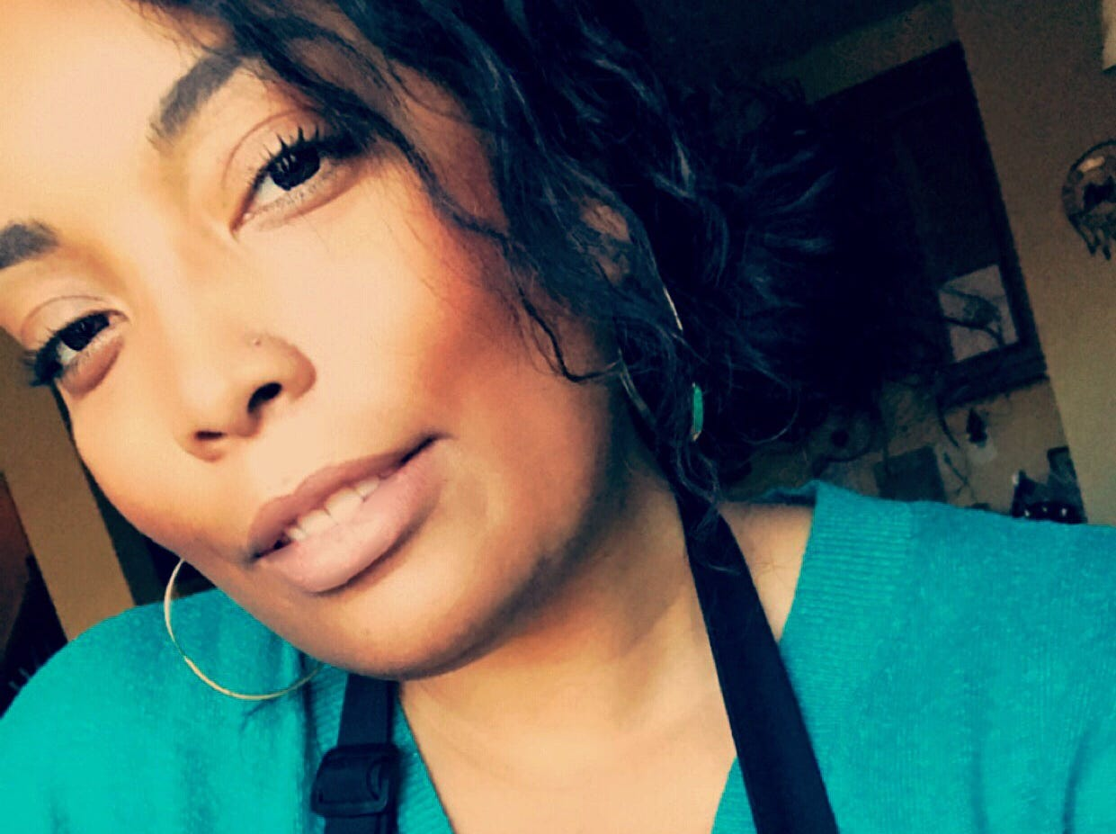 Blogger Angela Davis of the Kitchenista Diaries, is an influencer and cookbook author.