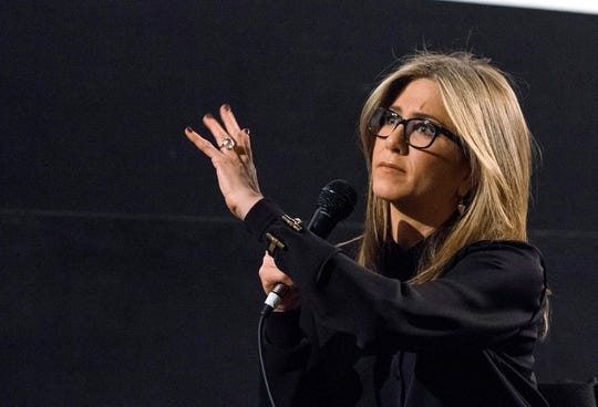 """It was one of those things where on the takeoff, on the taxi, we heard an explosion which sounded like a pothole if it was a car big enough to go over the Grand Canyon,"" Aniston, who has a fear of flying, said on ""Jimmy Kimmel Live."""