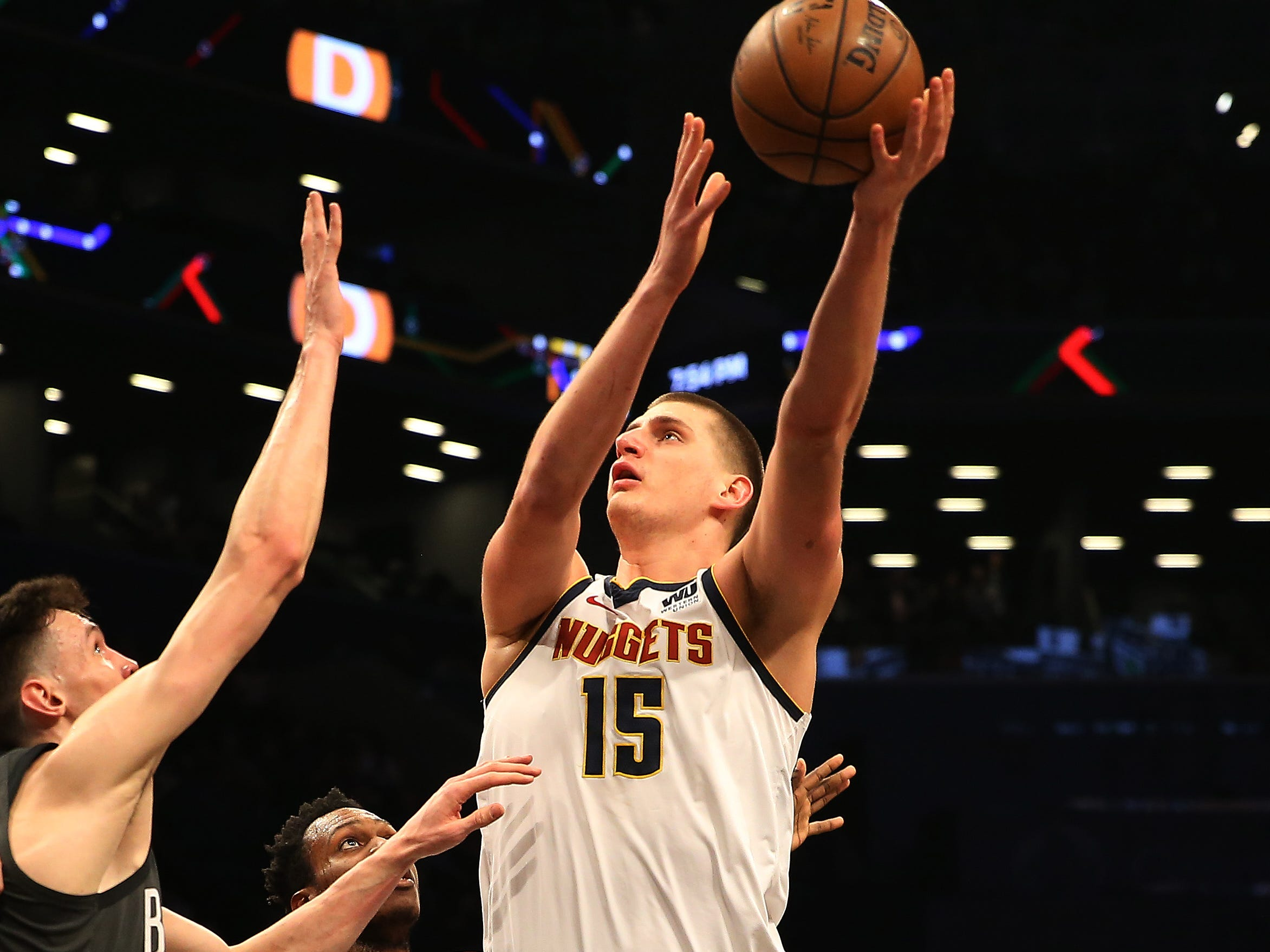 74. Nikola Jokic, Nuggets (Feb. 6): 25 points, 14 rebounds, 10 assists in 135-130 loss to Nets (10th of season).