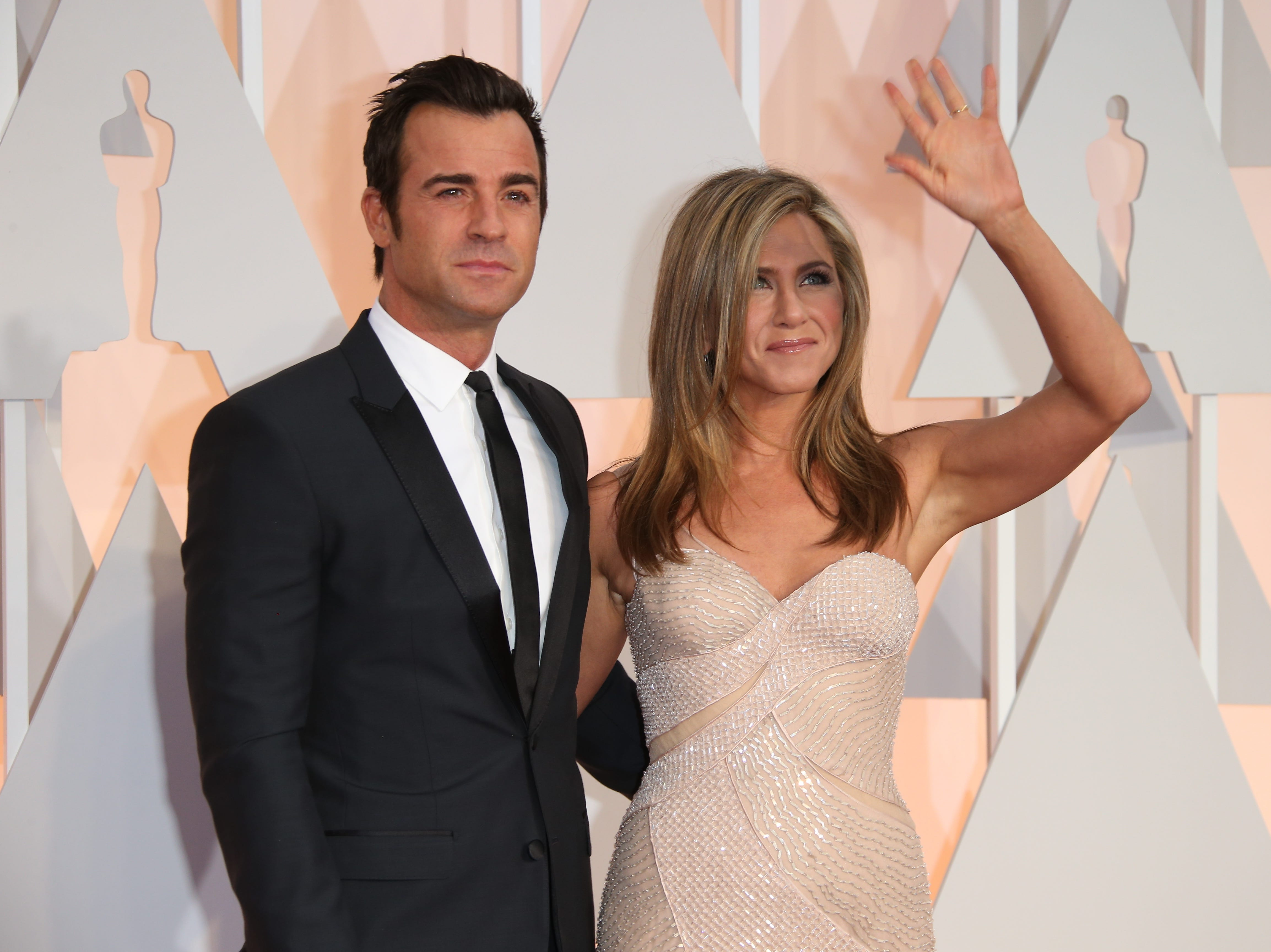 In August 2015, Theroux and Aniston tied the knot in a secret ceremony at their home on a Wednesday.