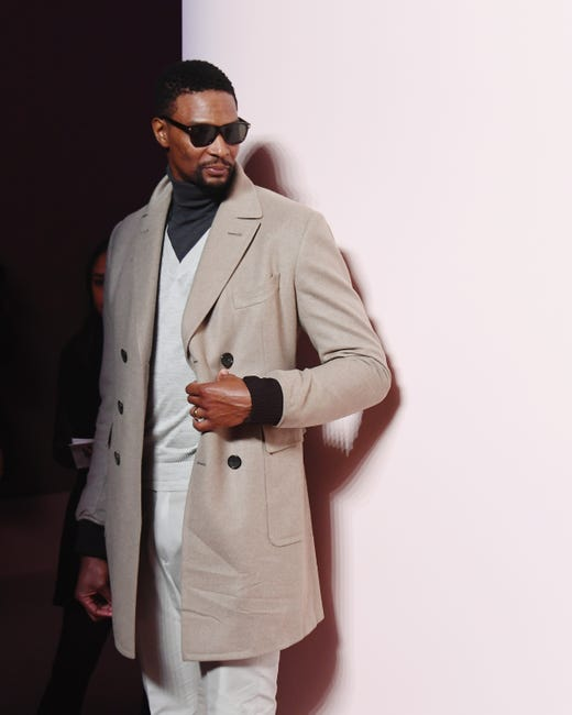 NEW YORK, NEW YORK - FEBRUARY 06: Chris Bosh attends the Tom Ford FW 2019 - Arrivals - New York Fashion Week: The Shows on February 06, 2019 in New York City.