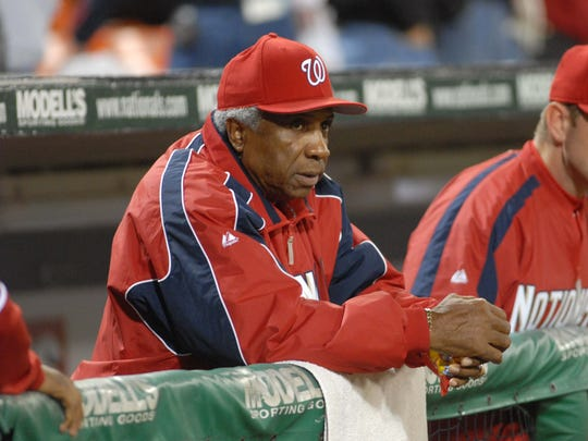 Washington Nationals manager Frank Robinson also managed the Cleveland Indians, San Francisco Giants and Baltimore Orioles.