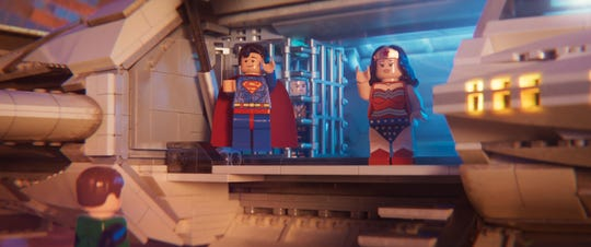 """Lego Superman and Wonder Woman have their moment in """"The Lego Movie 2."""""""