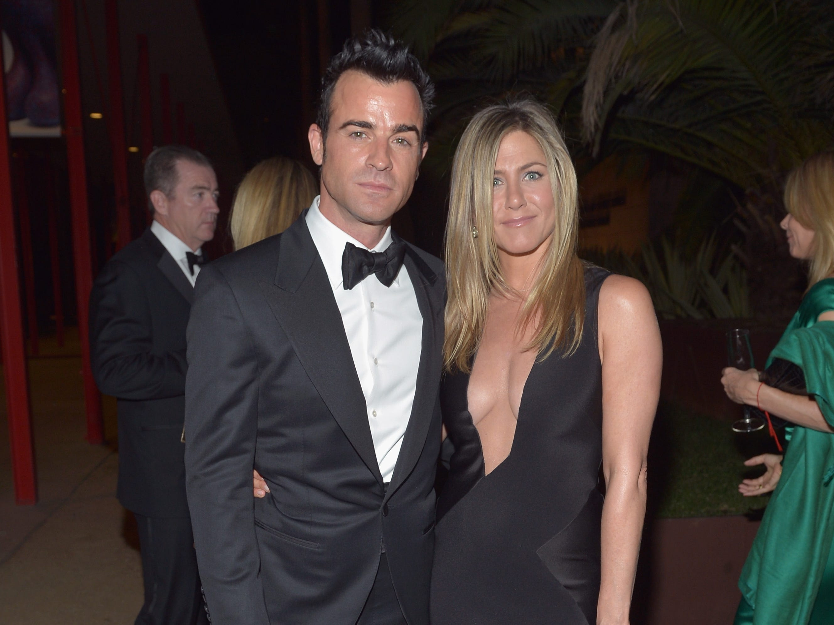 Theroux and Aniston got engaged in October 2012.