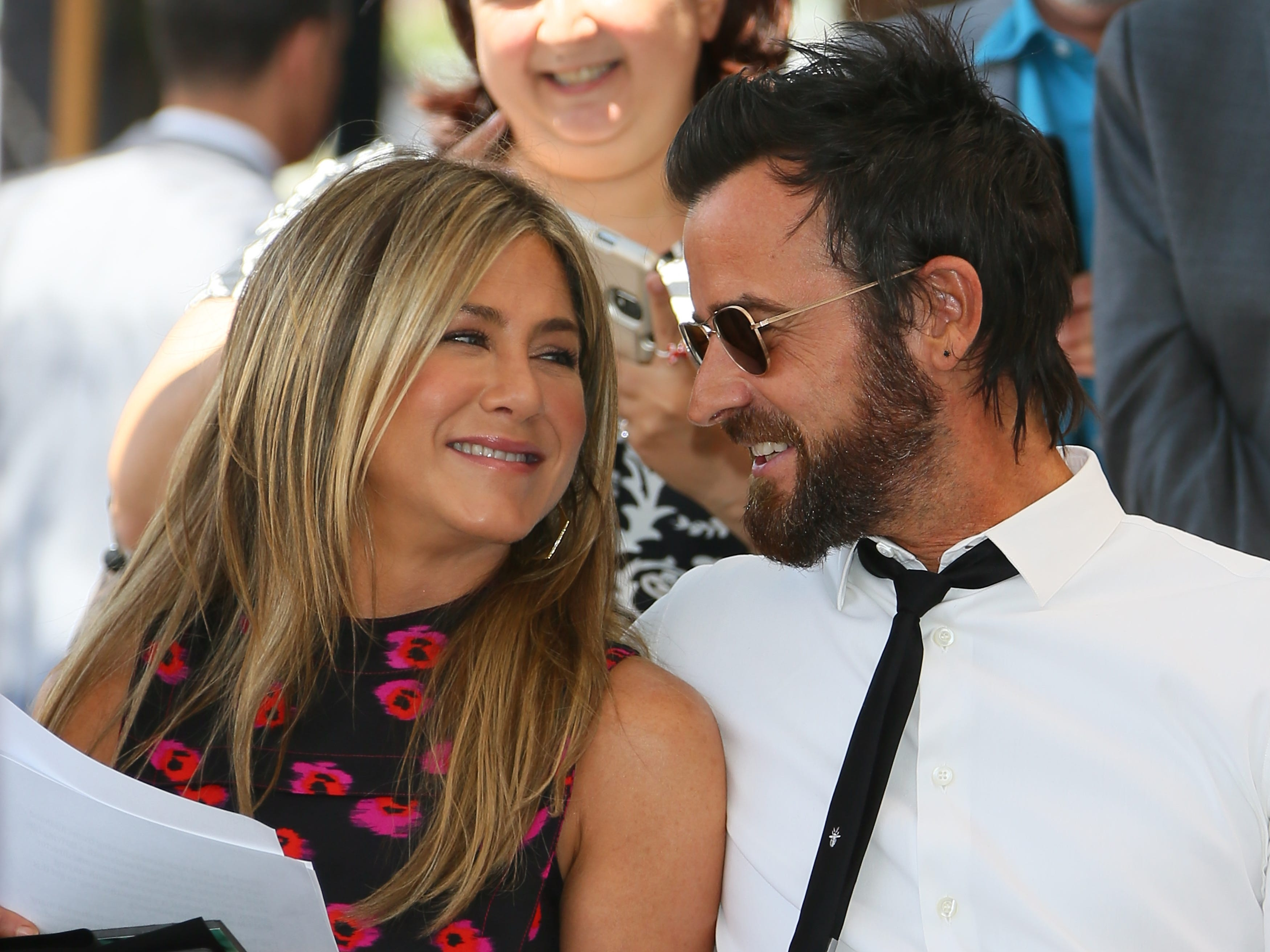"""In February 2018, Aniston and Theroux announced they were separating, a decision they said they reached at the end of the previous year. """"We are two best friends who have decided to part ways as a couple, but look forward to continuing our cherished friendship,"""" they said in a joint statement."""