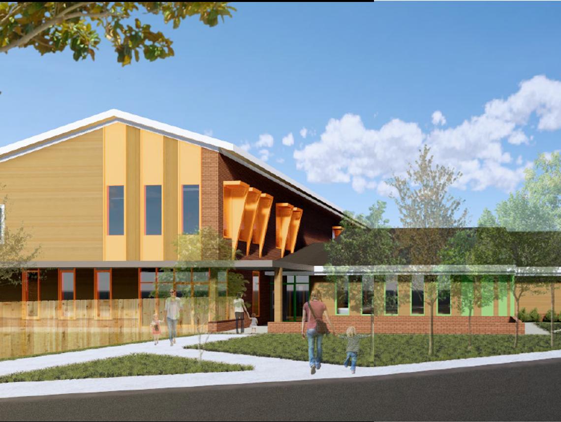 Preliminary renderings of Clemson's Child Development Center