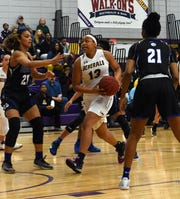 LSUA's E'layzha Bates (13) looks to score against Our Lady of the Lake Thursday, Feb. 7, 2019 at the Fort located on the LSUA campus. The Generals are playing in their first NAIA tournament game Wednesday against Westmont (Calif.)