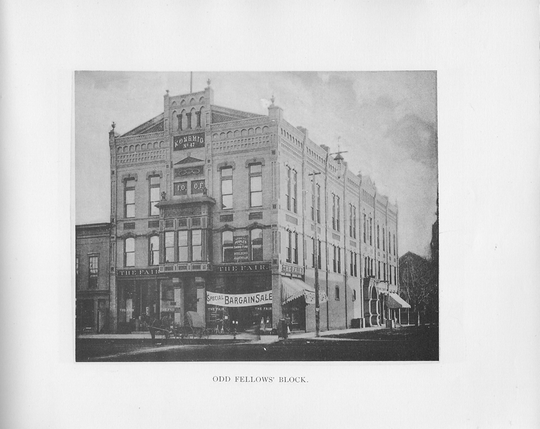 The historic portion of Gabriel Furniture will be renovated instead of demolished. This photo is from the building in 1892.