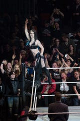 Paige, pictured during WWE's Road to WrestleMania at the Lanxess Arena on Feb. 11, 2016 in Cologne, Germany.