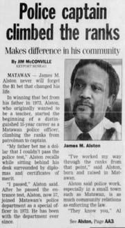 Former police Chief James Alston received two massive settlements in lawsuits against Matawan.