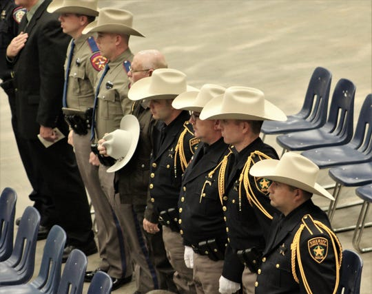 The Lubbock County's sheriff's office was represented at Friday's memorial service  for fallen Agent Donna Doss at the Taylor County Coliseum.